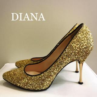 DIANA - DIANA ダイアナ ゴールド グリッター ラメ パンプス 結婚式