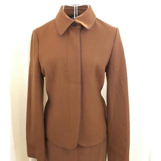 インディヴィ(INDIVI)の⚫︎INDIVI 無地 襟付きジャケット ジッパー 日本製 #Cattleya(テーラードジャケット)