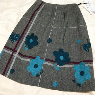 M'S GRACY - 未使用 ヘリンボーンフラワースカート