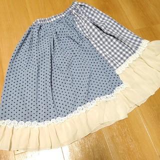 フェイバリット(Favorite)の☆最終値下げ☆favorite 異素材切り替えスカート(ひざ丈スカート)