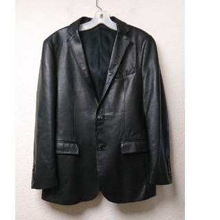 バーバリーブラックレーベル(BURBERRY BLACK LABEL)のバーバリー black label レザー テーラードジャケット(レザージャケット)