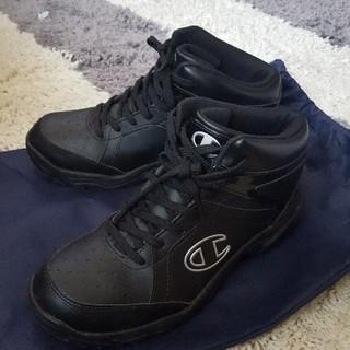チャンピオン(Champion)の大人気  美品です。 スノートレ  チャンピオン  黒 25.5 冬靴  (スニーカー)
