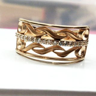 ゆきじ様専用  ピンクゴールド ダイヤモンドリング(リング(指輪))