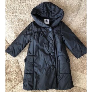 プチバトー(PETIT BATEAU)の美品⭐︎プチバトー女の子♡ブラック中綿コート⭐︎95センチ-110サイズ登園用に(コート)