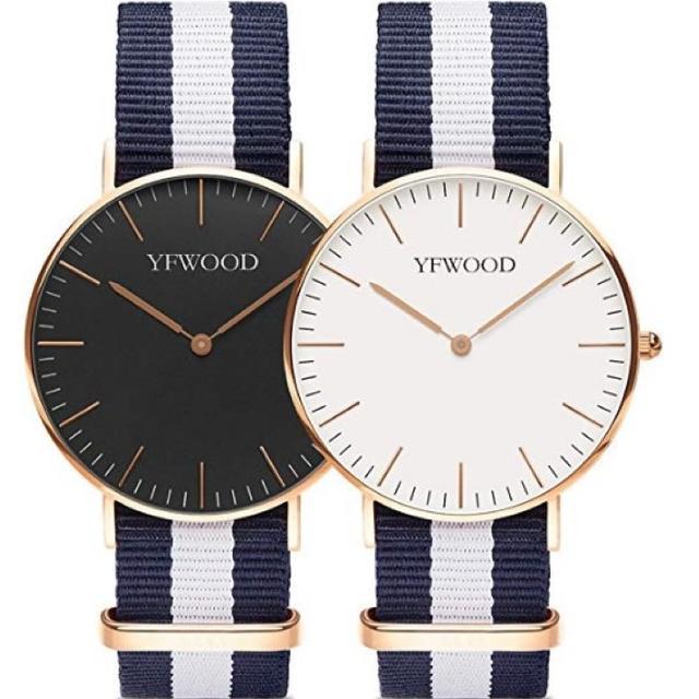 ★即日発送★ かわいい 2本セット ペア腕時計 シンプル おしゃれ ユニセックスの通販