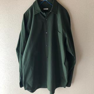 COMOLI - COMOLI グリーン シャツ サイズ2
