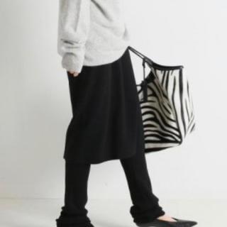 FRAMeWORK - フレームワーク  今期 レギンス付きスカート 黒 38 新品