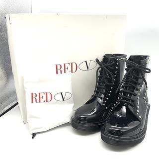 レッドヴァレンティノ(RED VALENTINO)のレッド ヴァレンティノ ブーツ ショートブーツ 雨 雪 レースアップ(ブーツ)