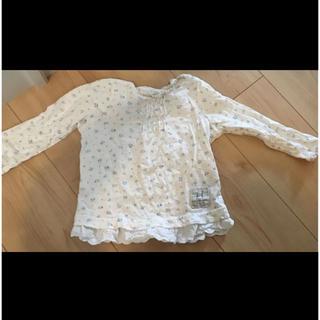 ビケット(Biquette)のビケット ロンT 女の子 ホワイト 保育園 幼稚園(Tシャツ/カットソー)