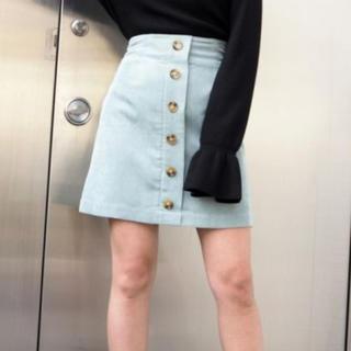 ムルーア(MURUA)のMURUA マーブルボタンミニスカート(ミニスカート)