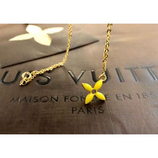 LOUIS VUITTON - 美品 正規品 ルイヴィトン ネックレス フラワークロス ゴールド×イエロー
