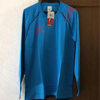 ミズノ(MIZUNO)のミズノ Tシャツ 長袖 新品 M ブルー 練習着(ウェア)