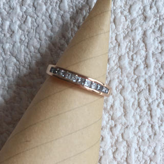 k18 ハーフエタニティダイヤモンドリング(リング(指輪))