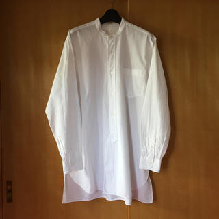 COMOLI - 美品 19ss comoli サイズ1 ホワイト バンドカラー シャツ
