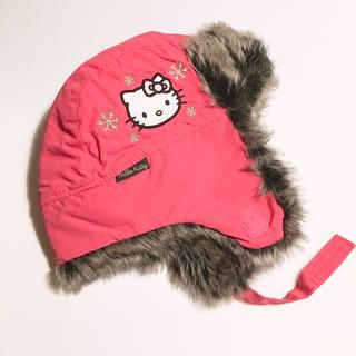 ハローキティ(ハローキティ)の未使用 Sanrio×H&Mキッズ防止 ハローキティ 3ー6歳サイズ(帽子)