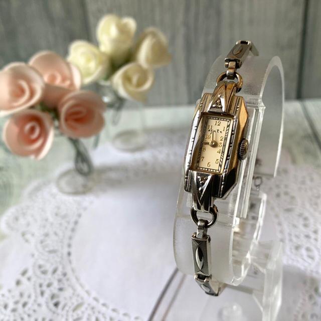 agete - 【美品】agete アガット 腕時計 シルバー  0.028ct レクタンギュラの通販