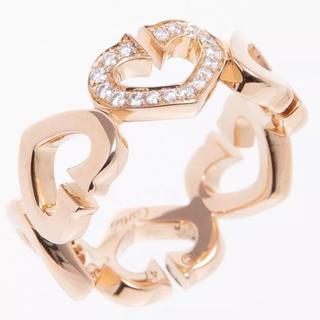 カルティエ(Cartier)のカルティエ Cハート リング 指輪 ダイヤ 18金PG 47号(リング(指輪))