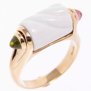 ブルガリ(BVLGARI)のブルガリ トロンケット リング 指輪 K18トルマリン ペリドット セラミック(リング(指輪))