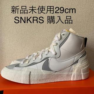 ナイキ(NIKE)の新品未使用 Sacai x Nike blazer ブレイザーホワイト 29cm(スニーカー)