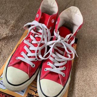 コンバース(CONVERSE)のCONVERSE(コンバース)ハイカットスニーカー 赤 25.5(スニーカー)