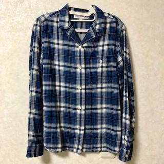 UNIQLO - 美品 ユニクロ イネスコラボ チェックシャツ 長袖 ブルー M