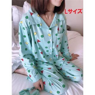 Lサイズ 送料無料 クレヨンしんちゃん パジャマ 3点セット グリーン