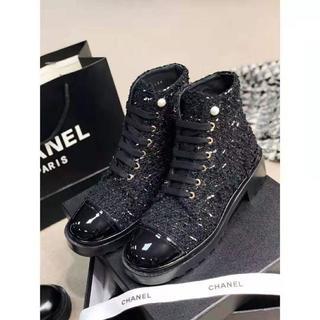 CHANEL - 新 品/ 37  モンクレール ブーツ ブラック