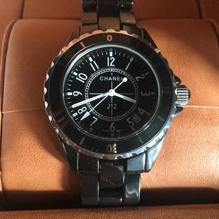 CHANEL - シャネル CHANEL 腕時計 時計 J12 ブラック 男女兼用 大人気 美品