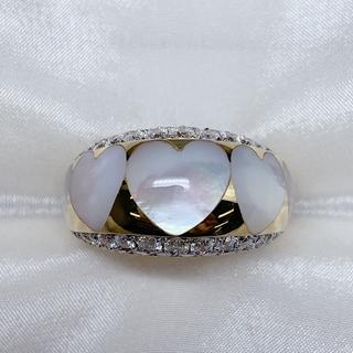 ポンテヴェキオ(PonteVecchio)のポンテヴェキオ k18wg シェル ダイヤモンド リング(リング(指輪))