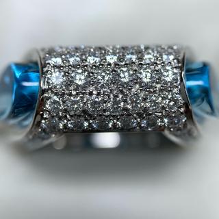 JEUNET k18wg トパーズ ダイヤモンド 指輪(リング(指輪))