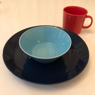 イッタラ(iittala)のイッタラ ブルー26cmプレート ターコイズ15cmボウル テラコッタマグカップ(食器)