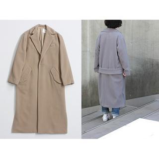 note et silence - So 1:1 梳毛ウールパイル くしゅ衿ロングコート