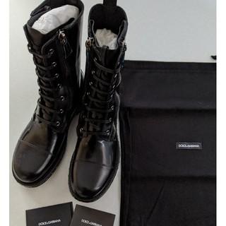 ドルチェアンドガッバーナ(DOLCE&GABBANA)の新品 Dolce&Gabbana ブラック レザーブーツ(ブーツ)
