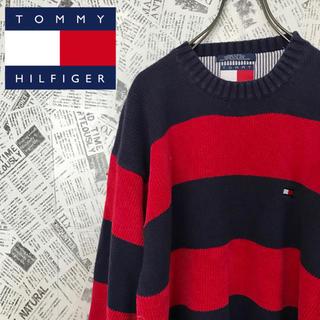 TOMMY HILFIGER - 激レア!!90s 【オールドトミー】トミーヒルフィガー ボーダーコットンニット