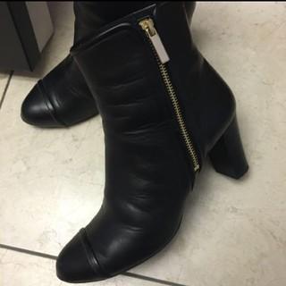 ユナイテッドアローズ(UNITED ARROWS)のユナイテッドアローズ ショートブーツ 黒 レザー ストレッチブーツ 日本製(ブーツ)