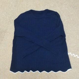 FELISSIMO - リブ イン コンフォート ゆったりラインで着こなしやすい 総柄ケーブル編みシルク