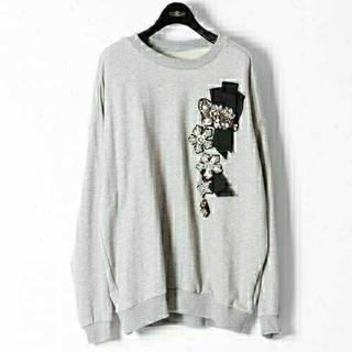 GRACE CONTINENTAL - 【ダイアグラム】刺繍スウェットトップ❤️グレー❤️