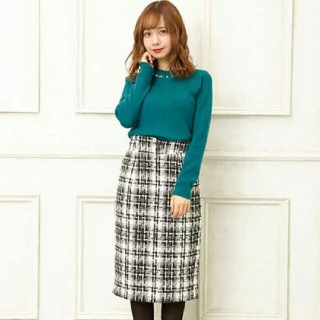 INGNI - イング ツイードナロースカート