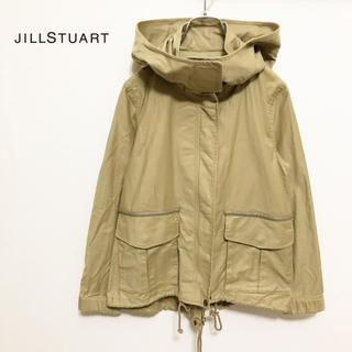 ジルスチュアート(JILLSTUART)の☆【JILLSTUART】2way ミリタリー フード ジャケット 美品(ミリタリージャケット)