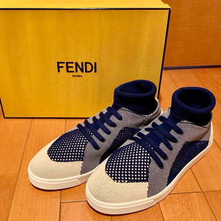 FENDI - 【新品未使用】FENDI フェンディ ニット スニーカー【箱や付属品付き】