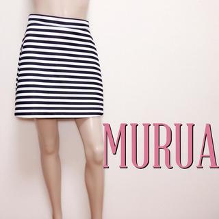 ムルーア(MURUA)の爆かわ♪ムルーア バックジップ 厚手 台形スカート♡エモダ アングリッド(ミニスカート)