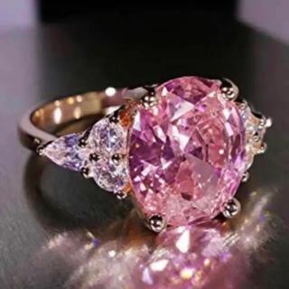 AAAランク ダイヤモンドcz リング 指輪 ピンクゴールド(リング(指輪))