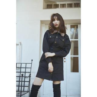 snidel - Herlipto 小嶋陽菜さん Belted Denim Mini Dress