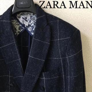 ZARA - ◆ZARA MAN ザラ マン◆ダブル テーラード ジャケット ウインドペン M