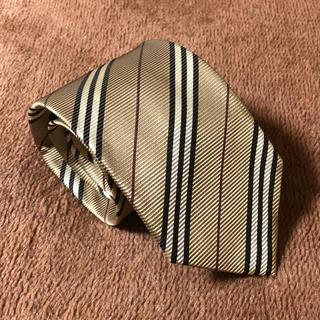 BURBERRY - 一回使用.日本製🇯🇵バーバリーブラックレーベル ストライプ柄 ネクタイ。