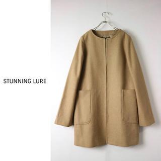 STUNNING LURE - スタニングルアー STUNNING LURE☆キャメルノーカラージャケット 38