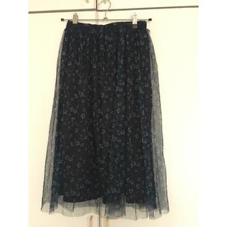 chocol raffine robe - チュールスカート