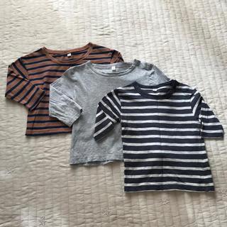 MUJI (無印良品) - 無印良品 ロンT Tシャツ ボーダー