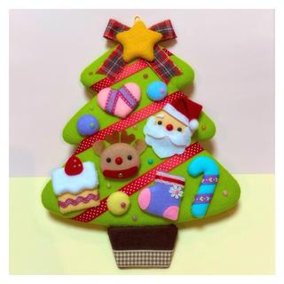 フェルトリース【クリスマスツリー】(リース)