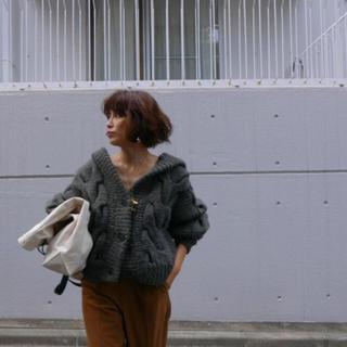TODAYFUL - ETRE TOKYO エトレ 新作 完売 ローゲージケーブルフードカーディガン